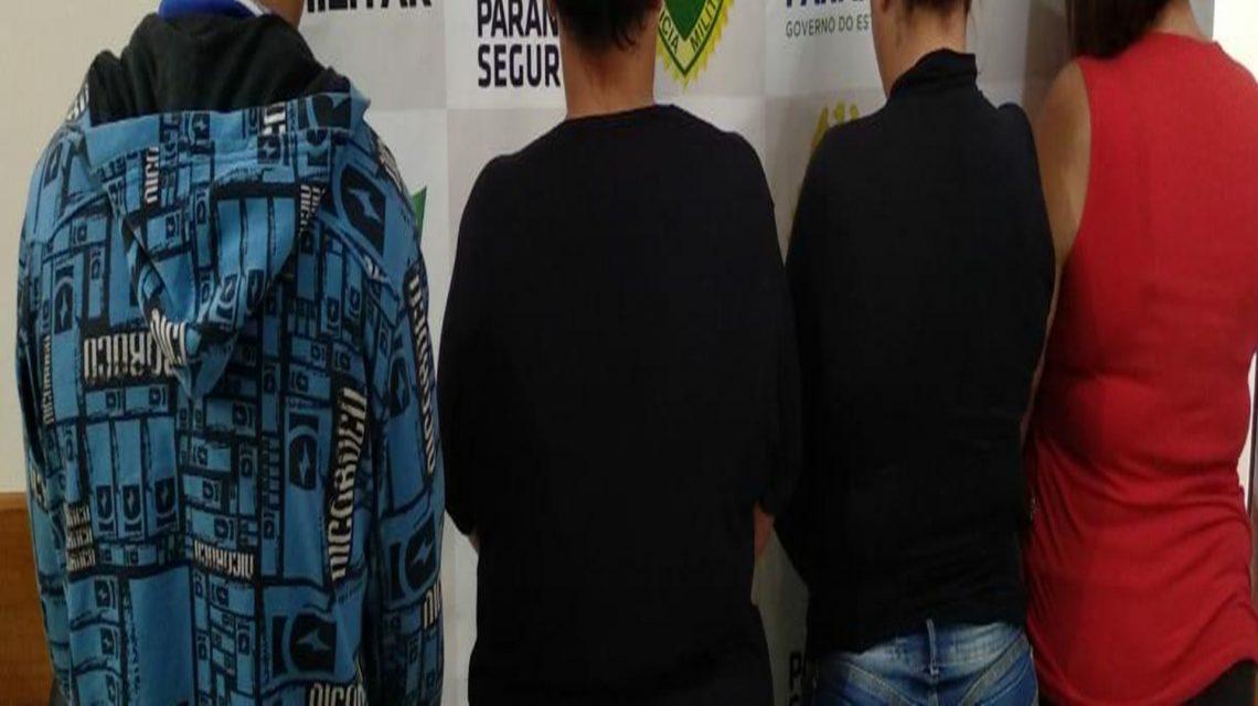 Polícia Militar detém quarteto por receptação e posse de arma em Coronel Vivida
