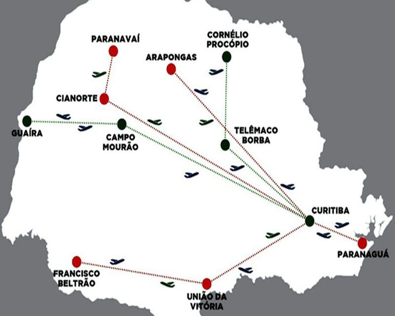 """Programa """"Voe Paraná"""" contempla Francisco Beltrão e outras nove cidades com voos da Gol"""
