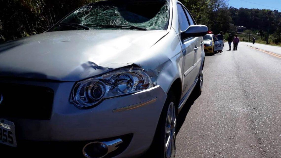 Ciclista fica ferido em acidente em Coronel Vivida