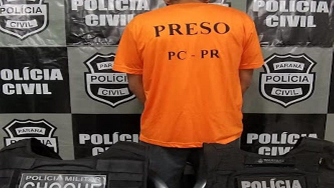 Acusado de homicídio em Foz do Iguaçu é preso em Rio Bonito do Iguaçu