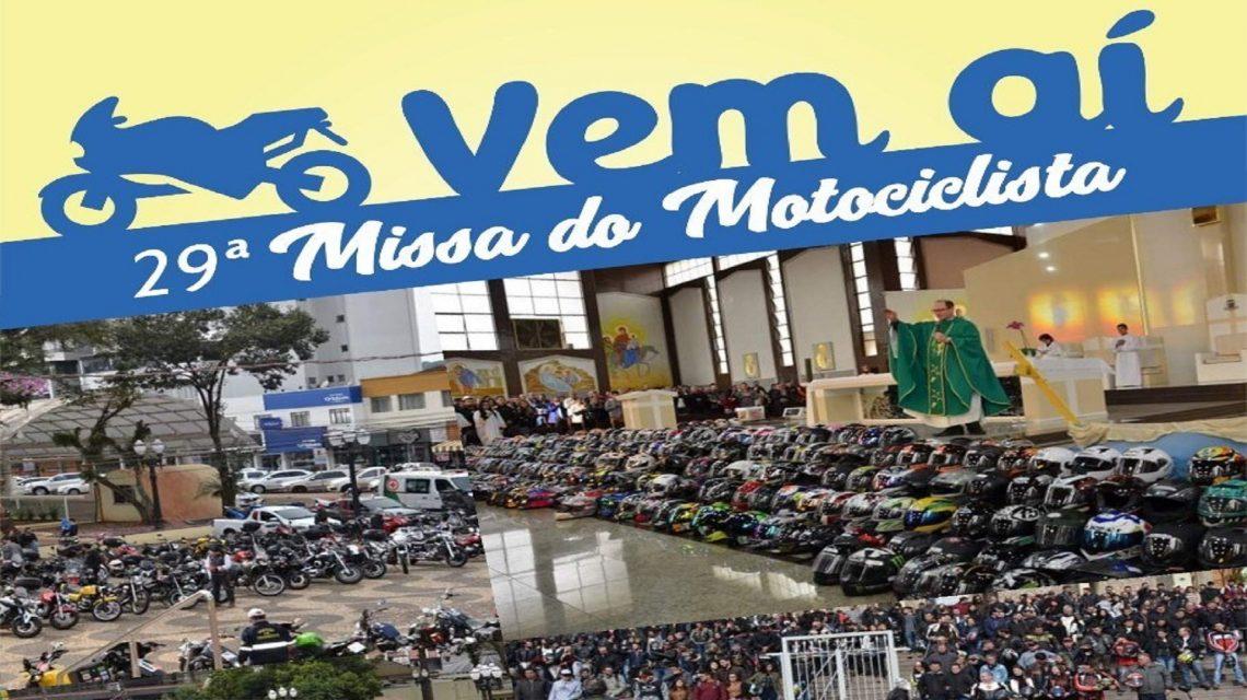 """Missa e passeio encerram programação alusiva ao """"Dia do Motociclista"""", em Francisco Beltrão"""