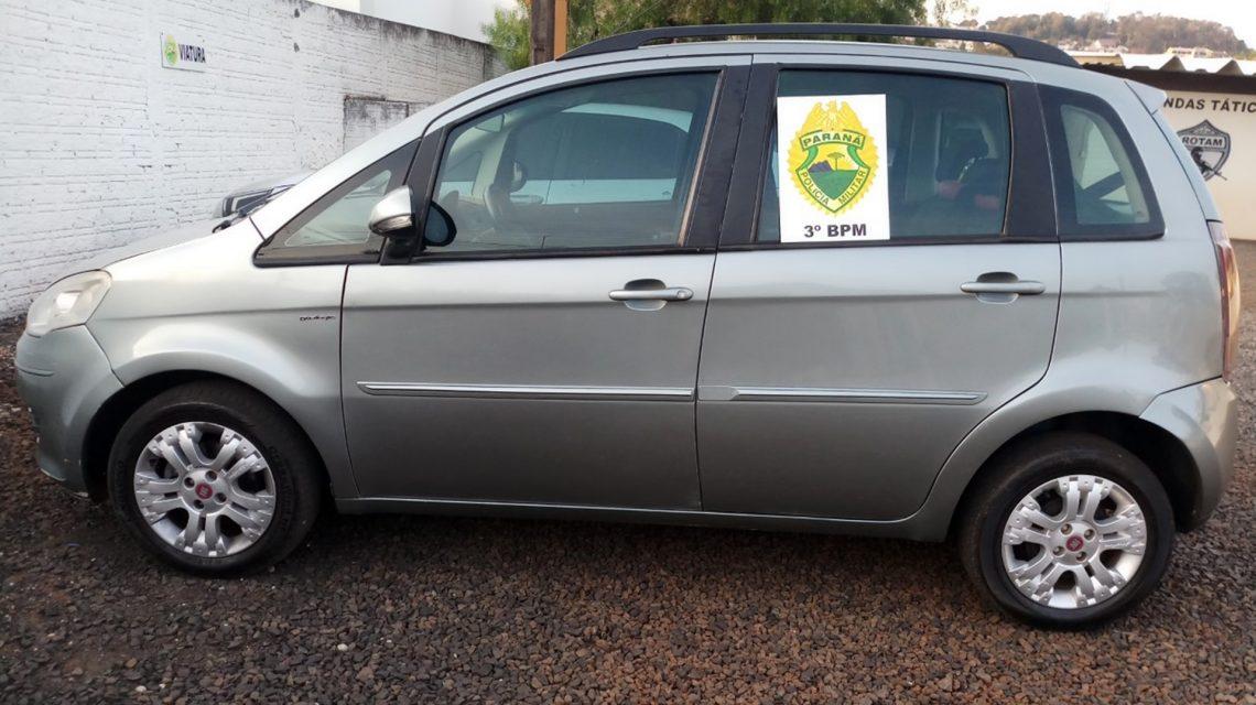 Polícia Militar recupera veículo furtado em Coronel Vivida