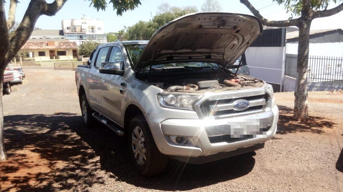 Camionete roubada no Sudoeste é recuperada em Capitão Leônidas Marques