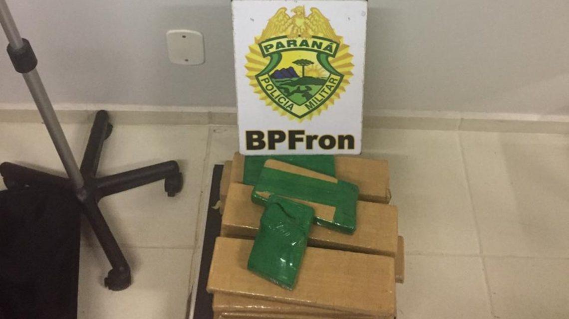 BPFron prende mulher com 15 Kg de maconha em Realeza