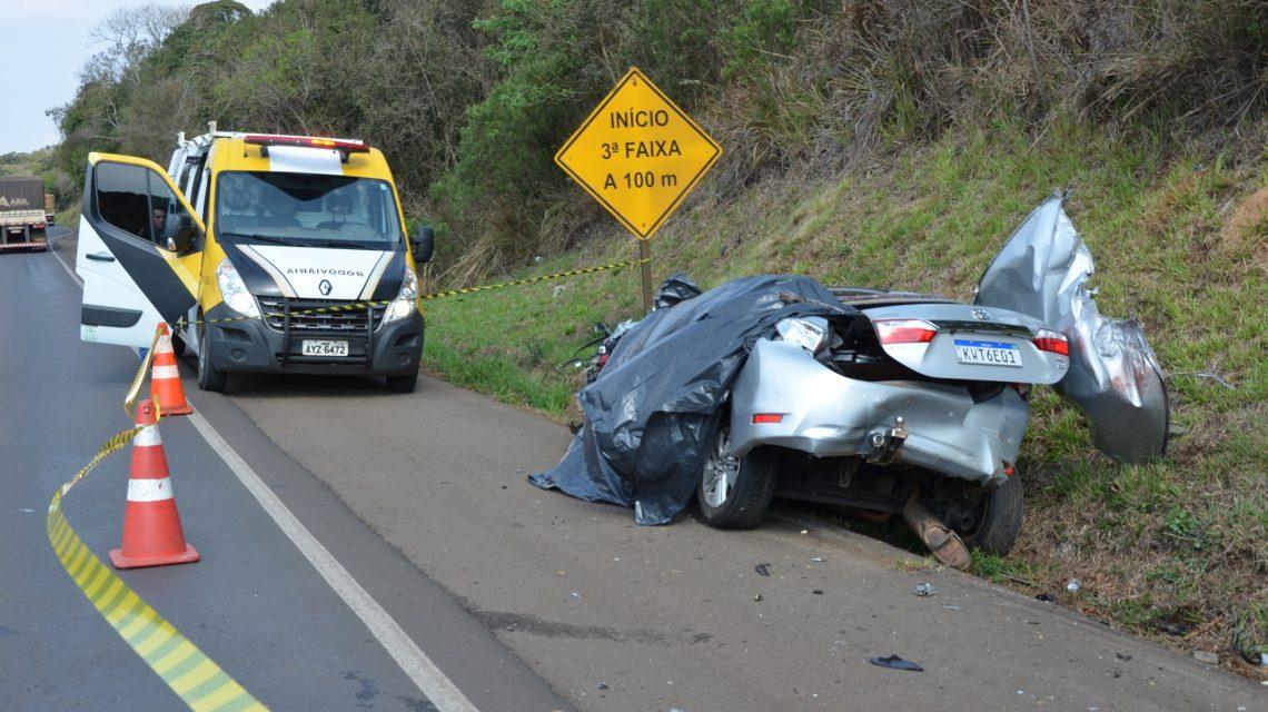 Homem morre em acidente na PRC-280, próximo de Palmas