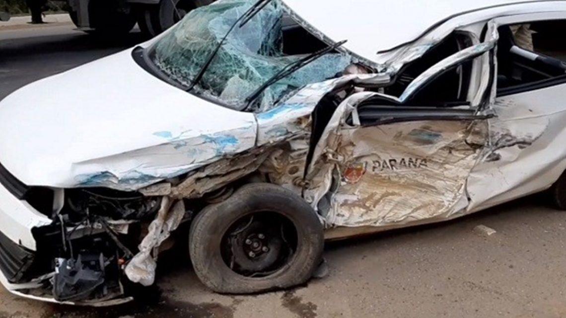 Carro do Governo do Paraná se envolve em acidente na BR-153
