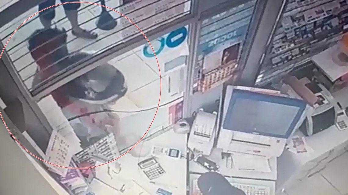 Tentativa de assalto é frustrada por cliente de lotérica em Foz do Jordão