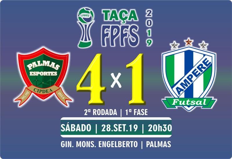 PalmasNet larga com vitória sobre o Ampére na Taça FPFS