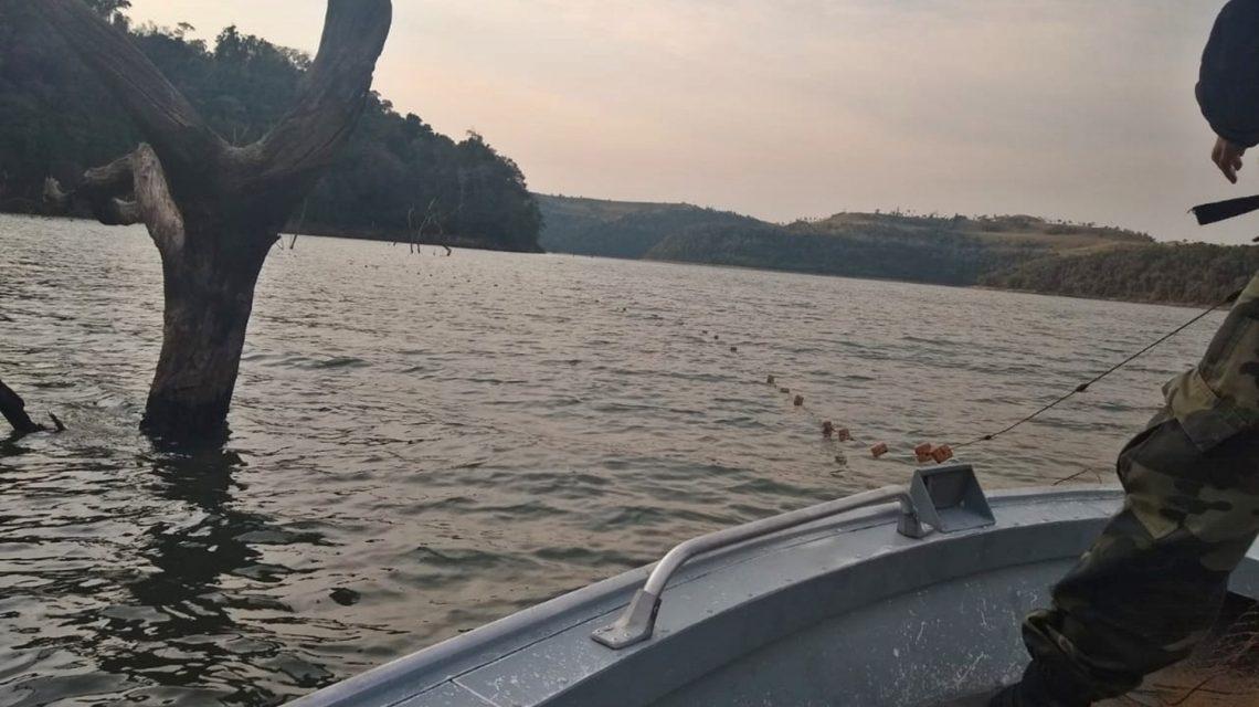 Polícia Ambiental apreende pescadores durante operação no lago da Hidrelétrica Salto Santiago