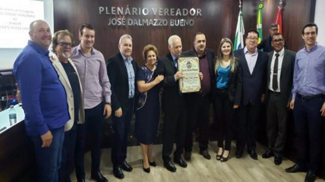 Vicente Mücke Júnior recebe homenagem do Legislativo de Chopinzinho