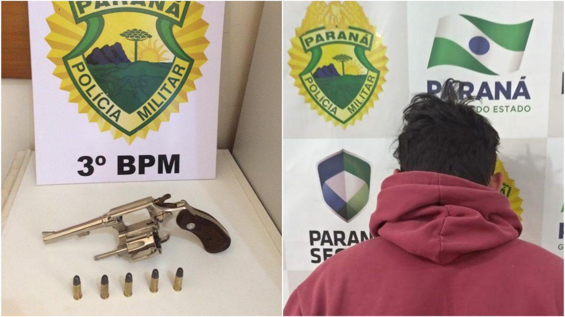 PM apreende arma e cumpre mandado de prisão em Coronel Vivida