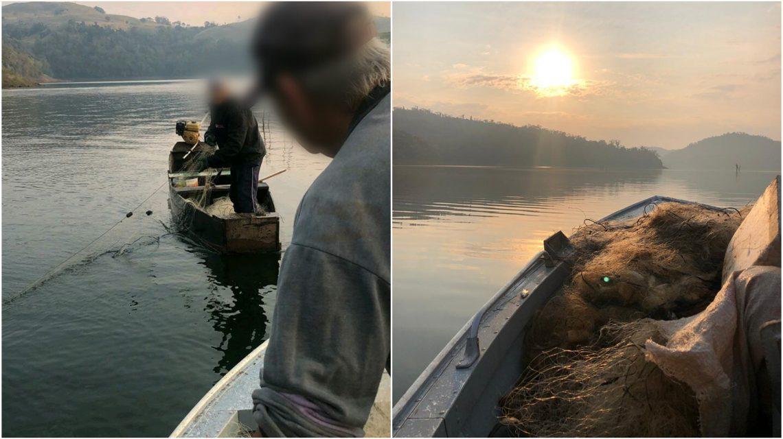 Pescadores são detidos pela Polícia Ambiental em Chopinzinho