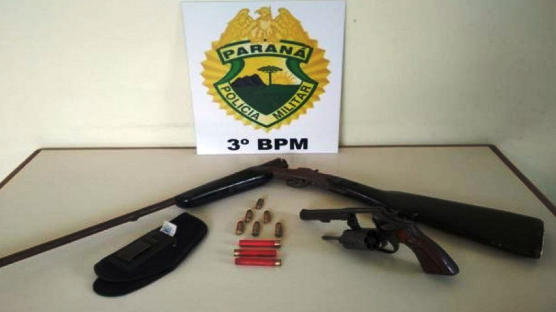 Homem é detido com arma de fogo no interior de São João