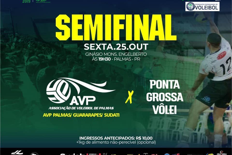 AVP Palmas decide vaga para a Final do Paranaense contra Ponta Grossa