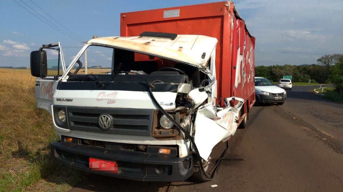Caminhões se envolvem em acidente na PR-158, em Chopinzinho