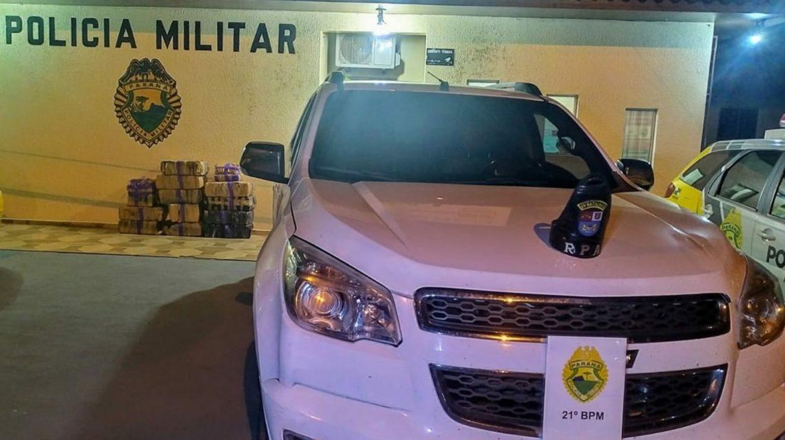 Marmeleiro: Polícia Militar apreende mais de 300 Kg de maconha e recupera camionete roubada