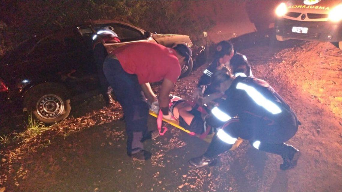 Jovem sofre acidente em estrada rural de Chopinzinho