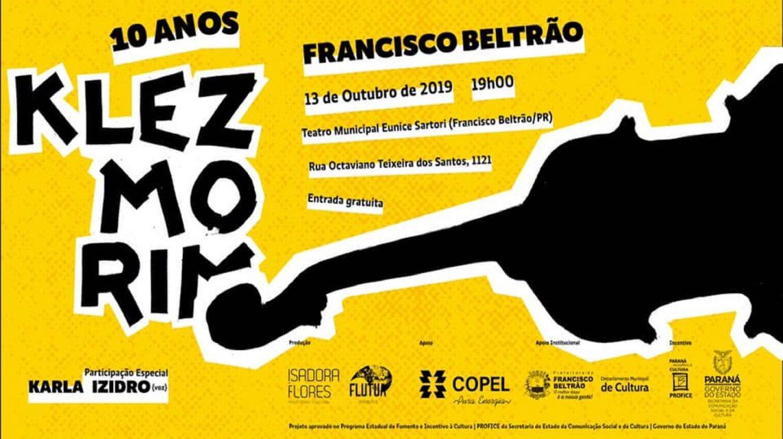 Klezmorim 10 anos: Turnê chega neste domingo em Francisco Beltrão