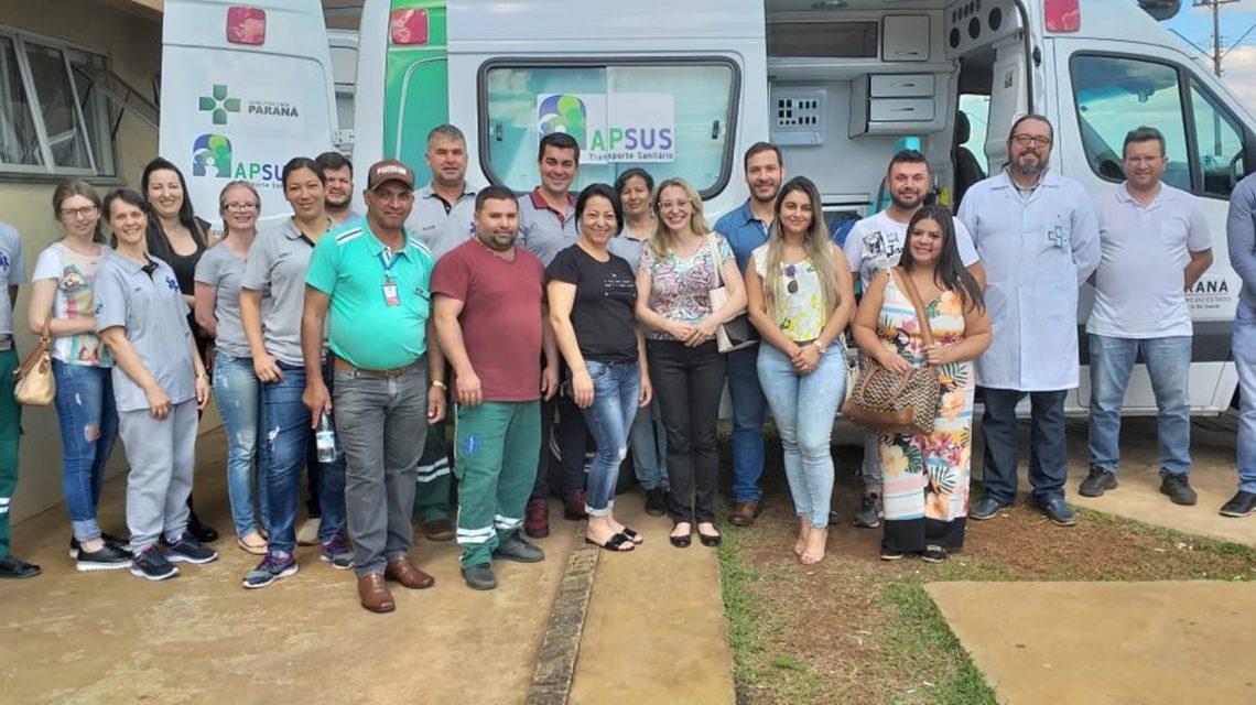 Profissionais da saúde de Candói participam de treinamento intensificado para uso de UTI Móvel