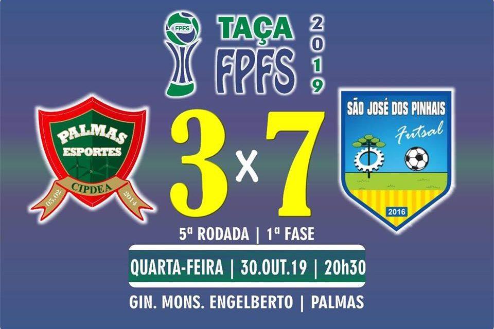 Jogando em casa, PalmasNet é goleada pelo São José na Taça FPFS