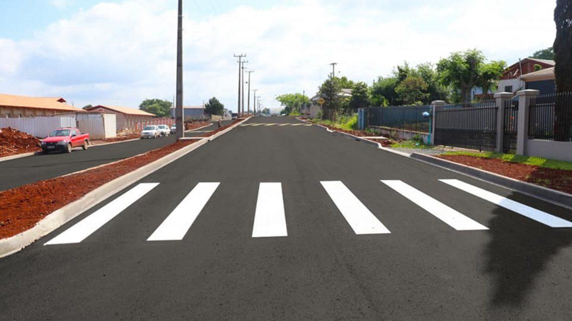 Candói: Pavimentação asfáltica da avenida Francisco Pedro da Luz está concluída