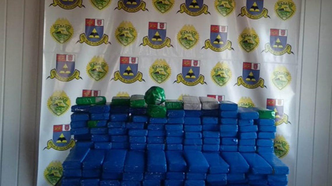 Polícia Rodoviária Estadual apreende mais de 100 Kg de maconha em Realeza