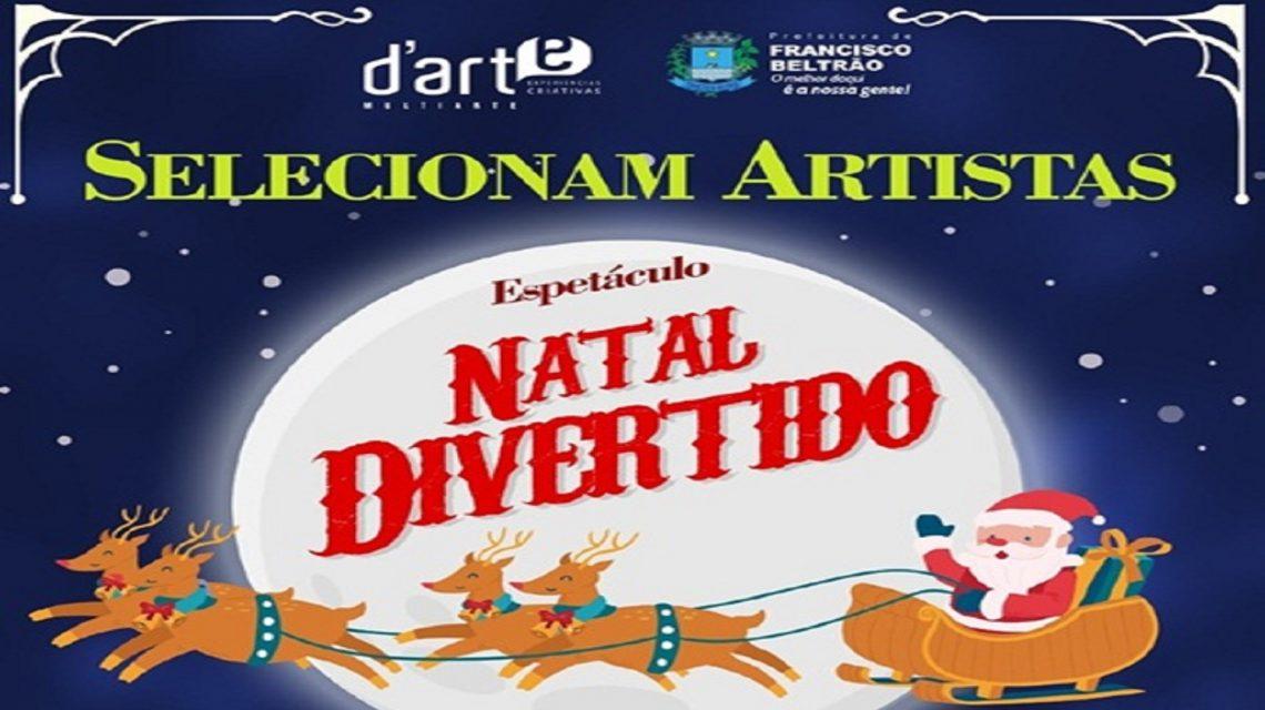 Artistas serão selecionados para o Natal Divertido em Francisco Beltrão