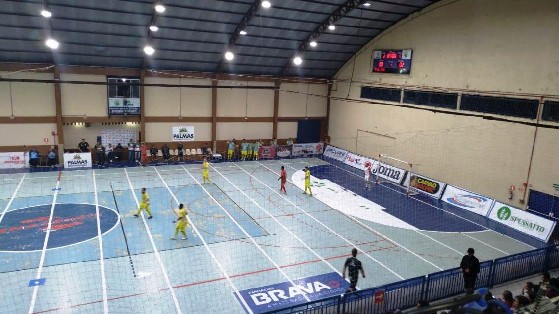 PalmasNet e Chopinzinho empatam no jogo de ida da Liga Futsal Paraná