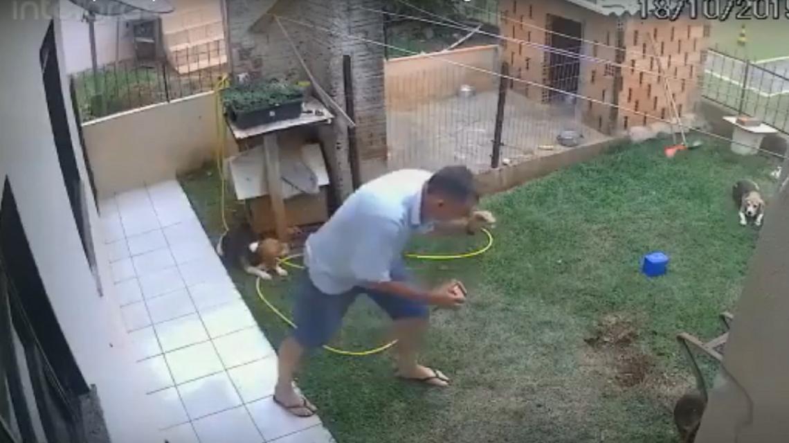 Homem explode quintal ao tentar matar baratas com gasolina
