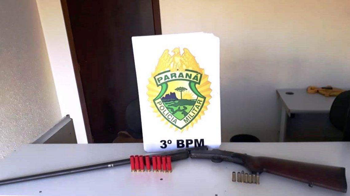 Arma de fogo e munições são apreendidas em Mangueirinha