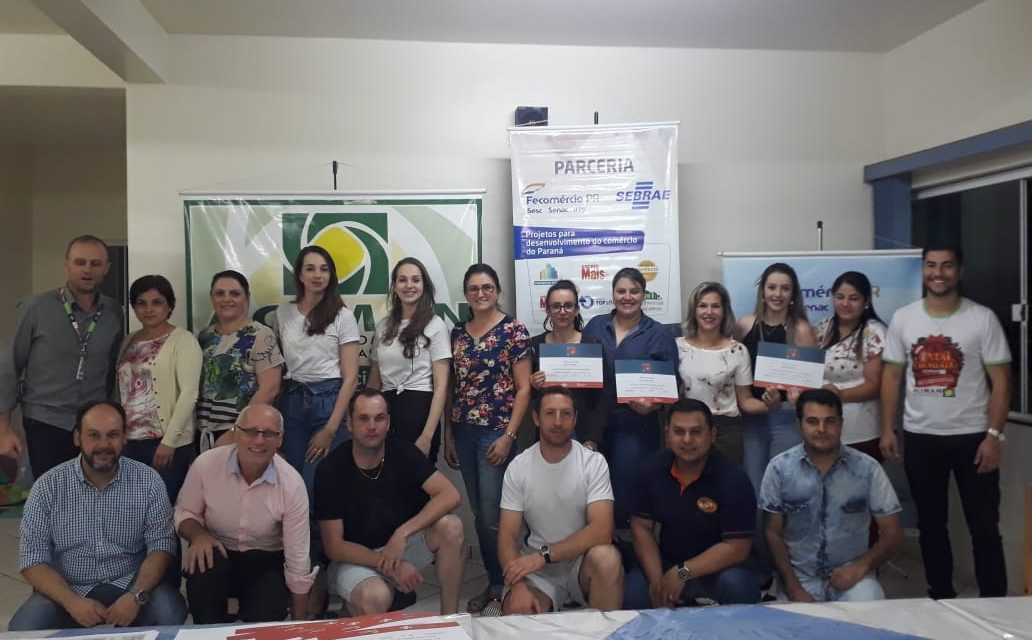 Empresários de Mangueirinha concluem o Varejo Mais em Ação