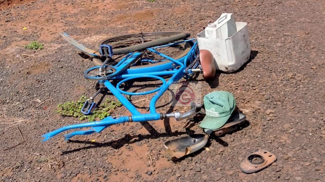 Ciclista de 72 anos é atropelado na BR-373, em Candói