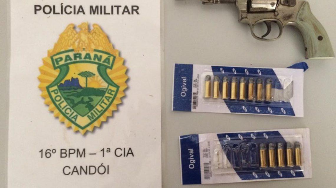 Candói: Polícia Militar registra violência doméstica e apreende arma de fogo