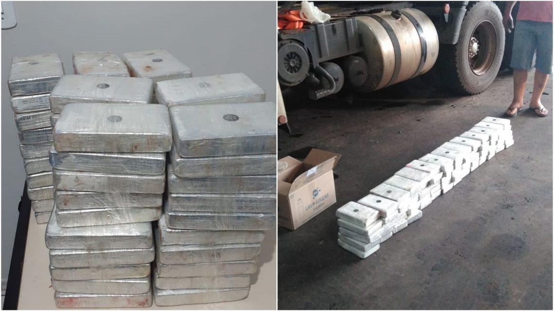 Capanema: PRF encontra cocaína em fundo falso de caminhão
