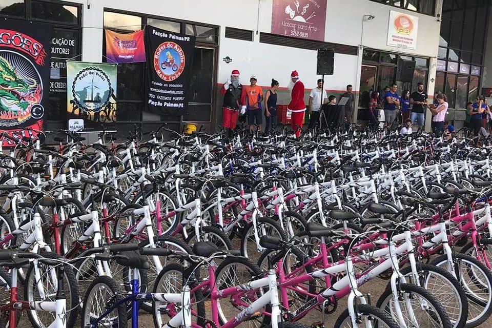 Natal Solidário Campeões do Futuro sorteou mais de 150 bicicletas em Palmas