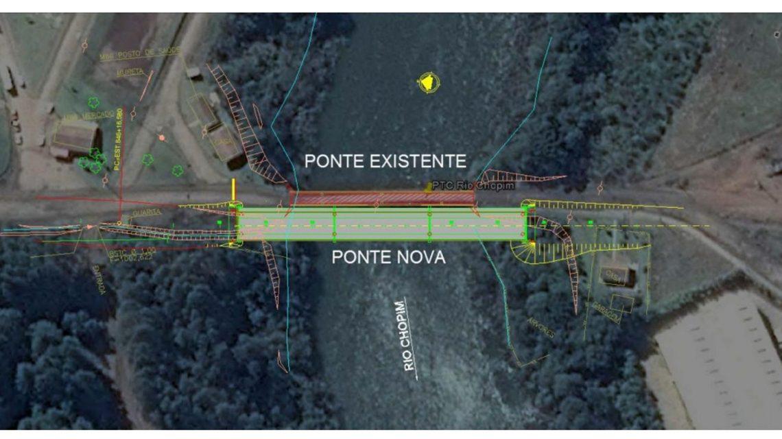 Rio Chopim: Após suspensão, DER reabre licitação da nova ponte na PR-912