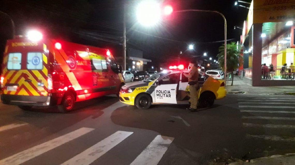 Francisco Beltrão: Entregador fica gravemente ferido após acidente com moto