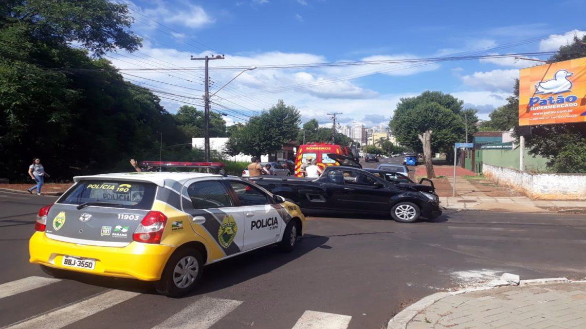 PM registra acidente de trânsito no centro de Pato Branco