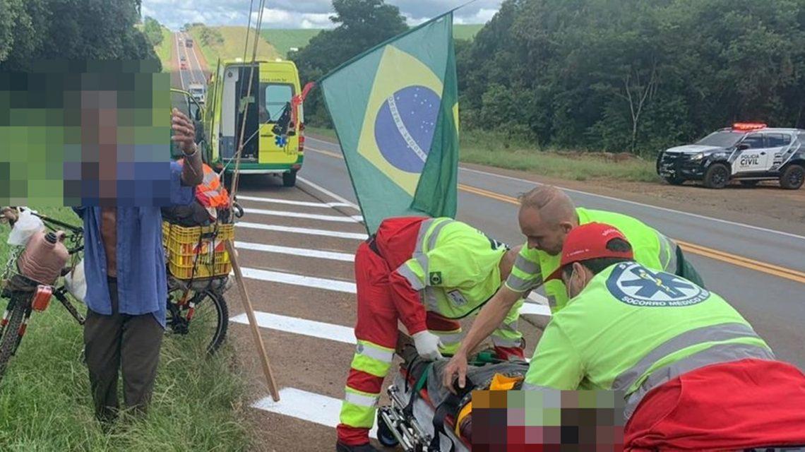 Policial Militar de folga evita assalto de ciclista e mata assaltante na BR-277, em Candói
