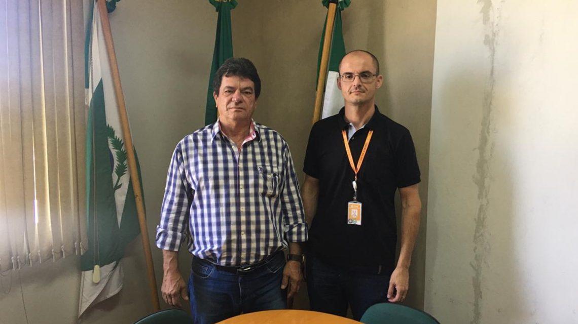 Prefeito de Rio Bonito do Iguaçu recebe visita do novo gerente da Copel de Laranjeiras do Sul