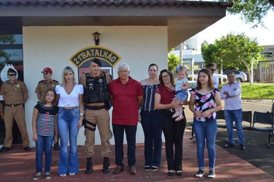 Soldado Dias é o destaque do mês de janeiro da Polícia Militar