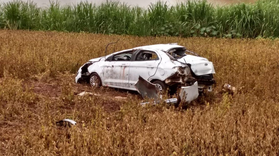 Capotamento na BR-163 entre Pranchita e Pérola D'Oeste deixa um morto e um ferido