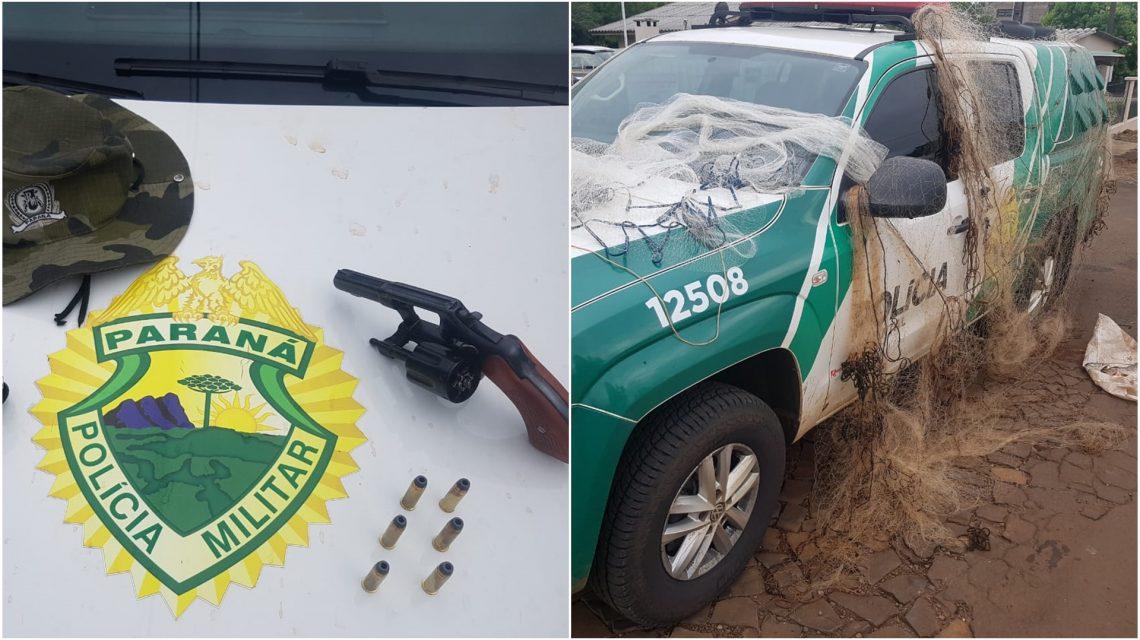Homem é detido em Salto do Lontra pelos crimes de porte de arma e pesca predatória