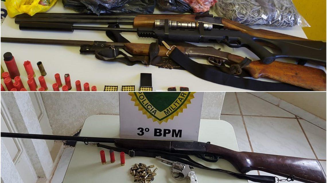 Polícia Militar detém caçadores e apreende armas e munições em São Jorge D'Oeste e São João