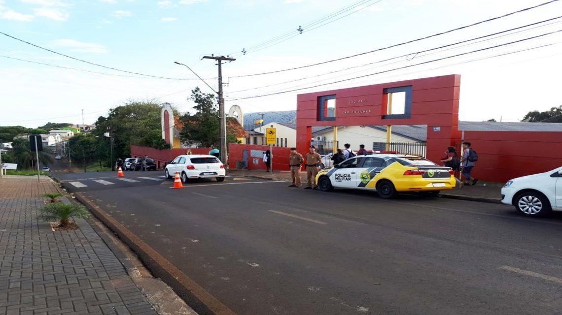 Polícia Militar realiza operação volta às aulas em Pato Branco