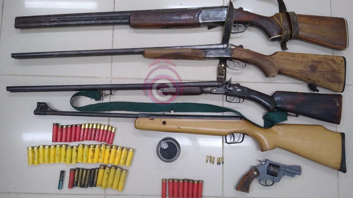 Armas e munições são apreendidas pela Polícia Civil em Candói