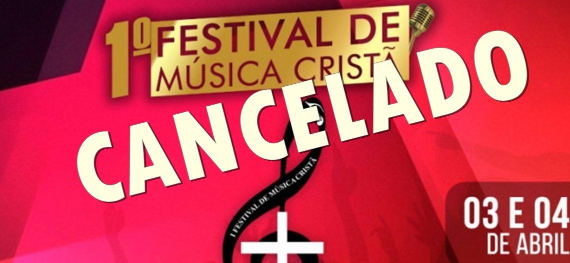 Cancelado Festival de Música Cristã de Palmas
