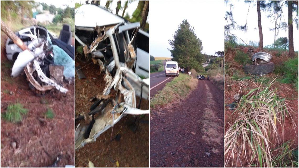 Jovem morre em acidente na PR-562, em Honório Serpa
