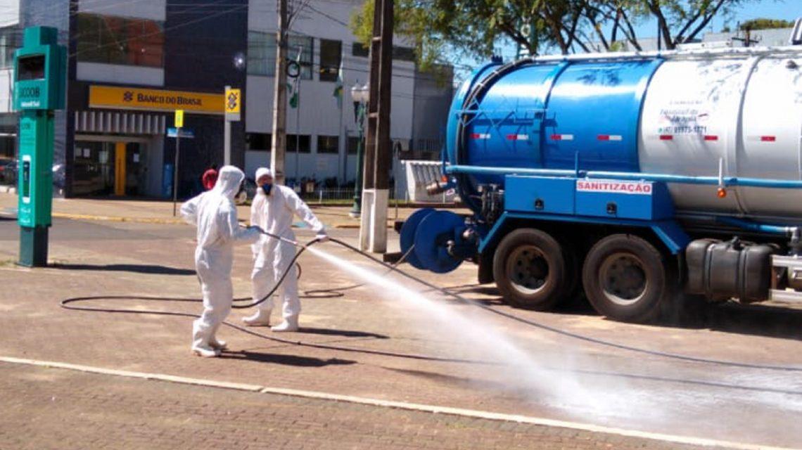 Palmas inicia processo de sanitização de ruas e espaços públicos