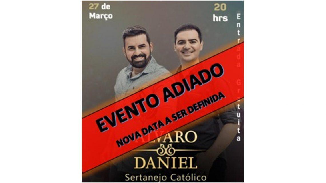 Show católico com Álvaro e Daniel é adiado em Candói